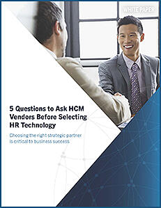 5 Questions for HCM Vendors Whitepaper Cover