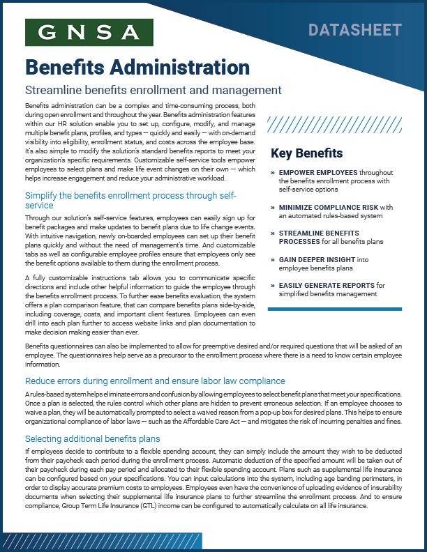 Oregon Benefits Administration Software Collateral Cover