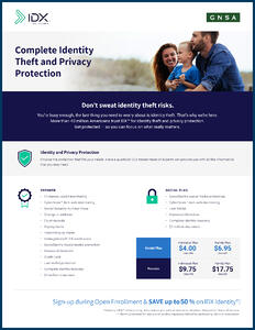 IDX Identity Theft and Privacy Protection Overview