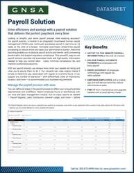 Oregon Payroll Solution Overview Datasheet