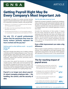 Reducing Payroll Errors Article Cover