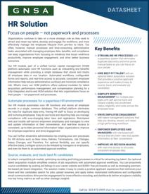 Oregon HR Solution Software Datasheet Cover