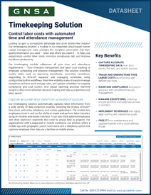 Oregon Timekeeping Software Datasheet Cover
