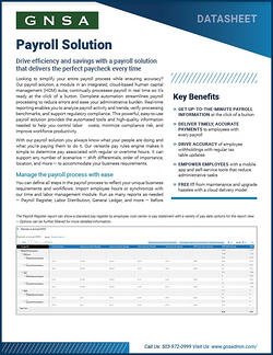 Oregon Payroll Software Collateral Cover